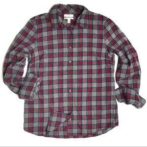J. Crew Boy Shirt in Grey & Red Tartan